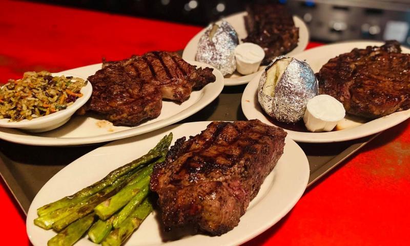 Four steak entree plates from Janko's Little Zagreb