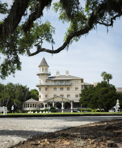 Once the clubhouse for the exclusive Jekyll Island Club, this Queen Anne style building is now a four-star resort on Jekyll Island, GA