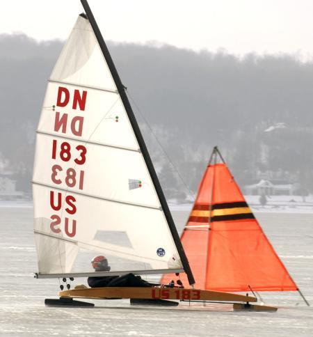 Hand-built 12-foot DN-Class Iceboat