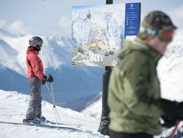 Skiing at Alyeska Resort
