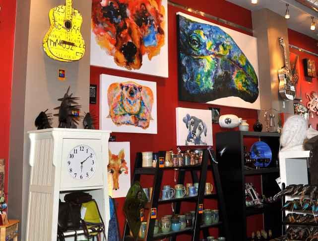 Anchorage shopping at art gallery Sevigny studios