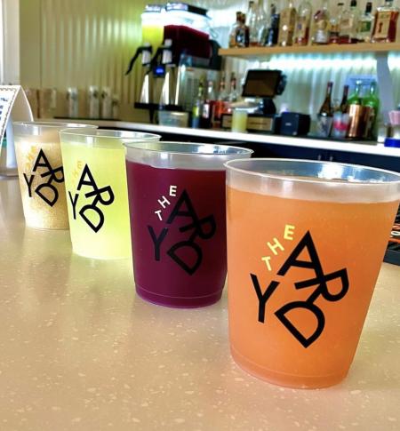 frozen slushy drinks at Covington Yard