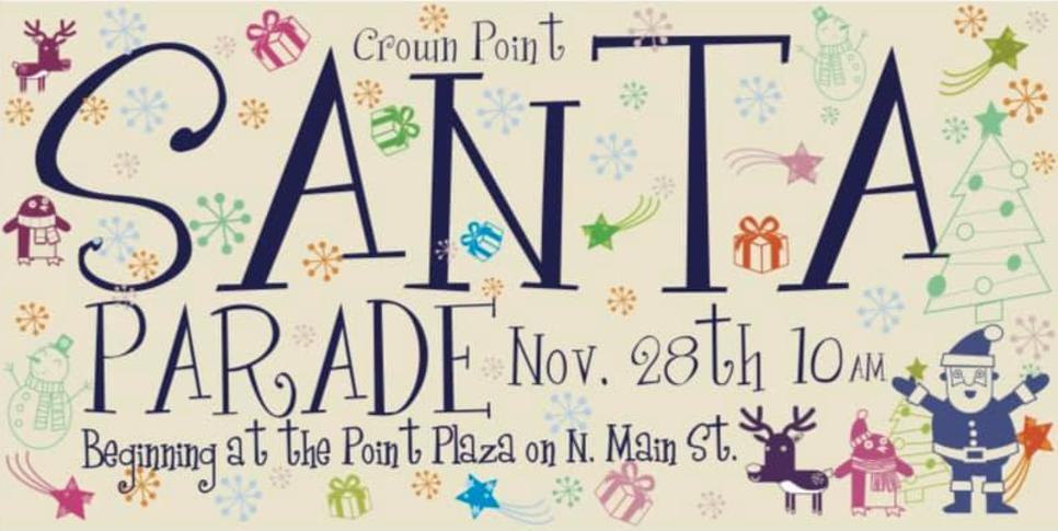 Santa Parade in Crown Point