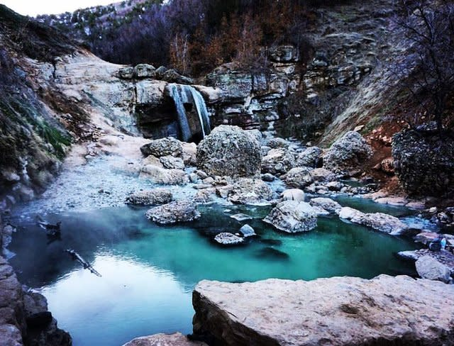 Fifth Water Hot Springs Winter