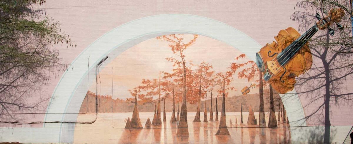 "Mural by Robert Dafford titled ""Horizon"""