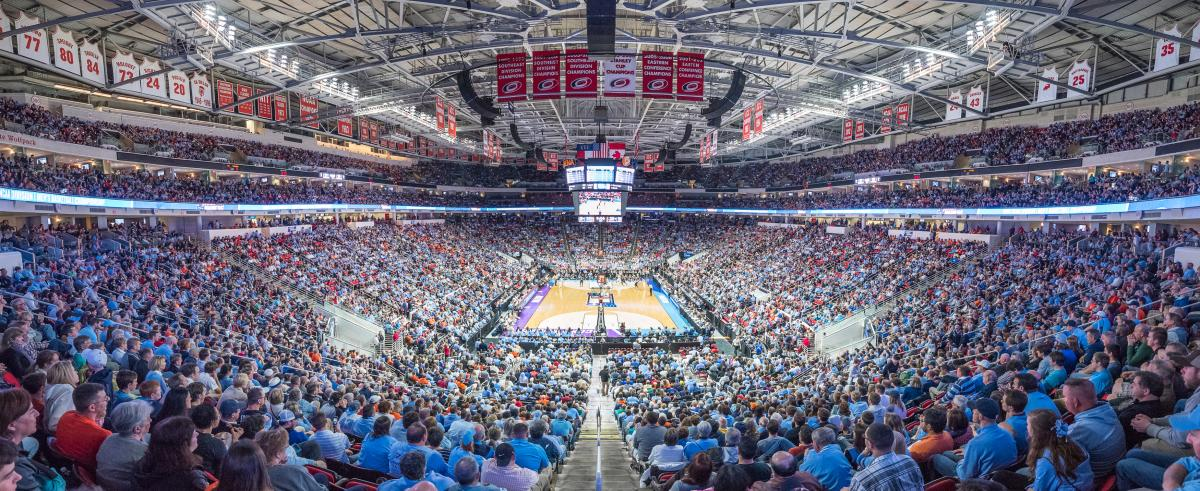 PNC Arena NCAA Basketball Panorama