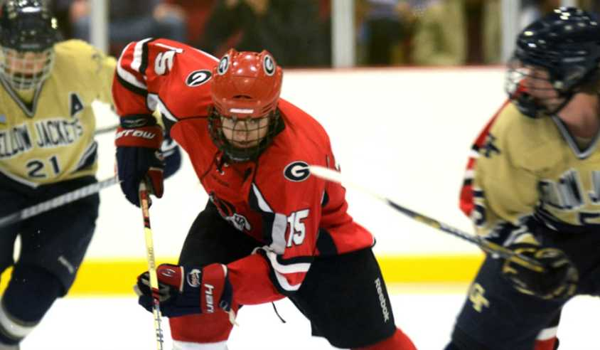 8590abc4a An ice storm is making its way to Athens! The UGA Ice Dawgs ice hockey team  is in full swing this fall. With 8 home games left in the season, ...