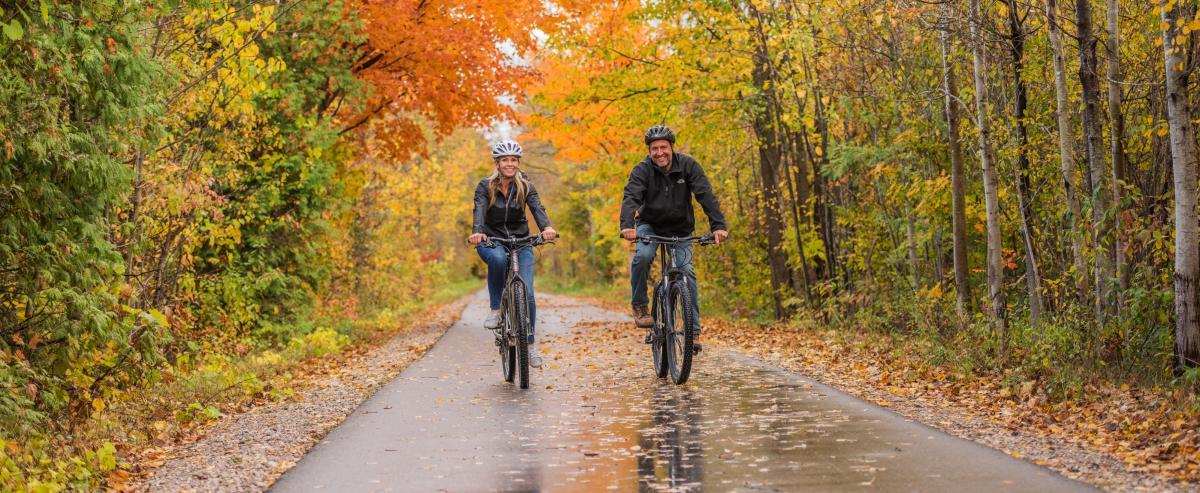 Fall Biking on the Leelanau Trail