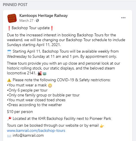 Kamloops Heritage Railway Social