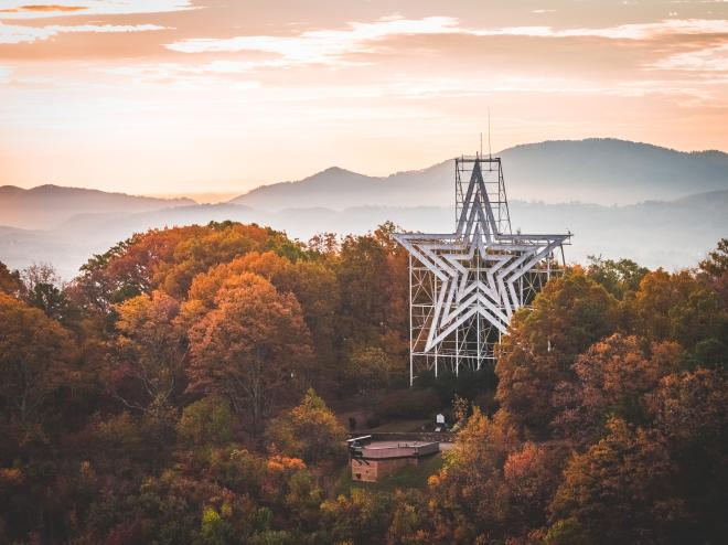 Roanoke Star - Fall Colors - Blue Ridge Mountains
