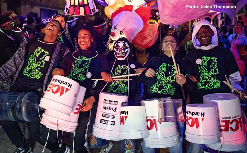 ypsiGLOW bucket drummers