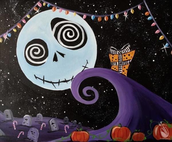 Holiday Nightmare Painting