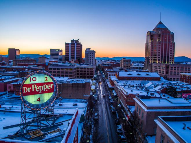 Dr Pepper Sign Downtown Roanoke