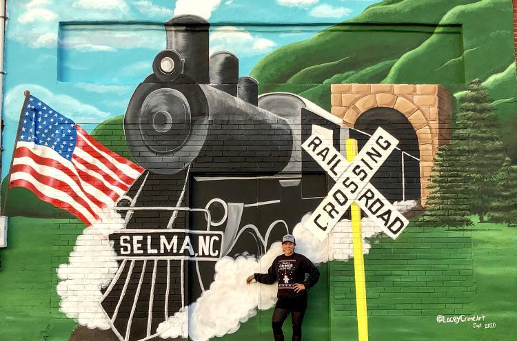 Selma Mural of a Train