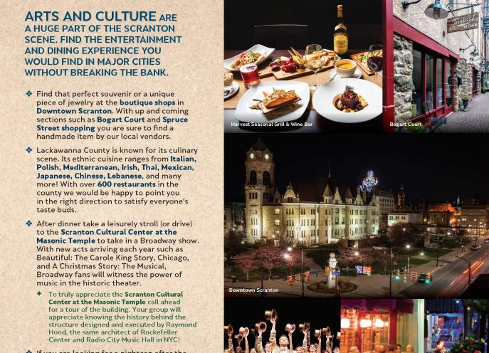 Big City Feel Itinerary of things to do in Lackawanna County, PA.