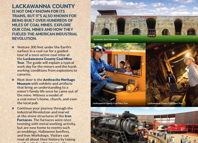 Black Diamond Itinerary of things to do in Lackawanna County, PA.