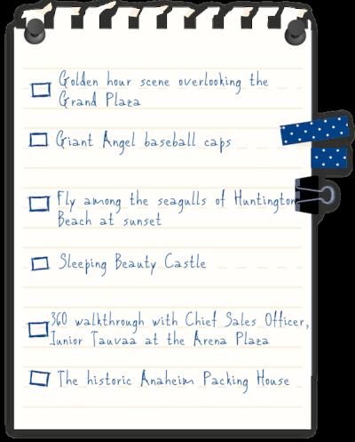 Anaheim and Orange County Scavenger Hunt Checklist