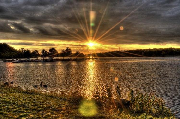 Lake at Mercer County Park in West Windsor, NJ.