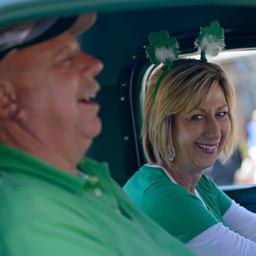 St. Patrick's Day Parade couple