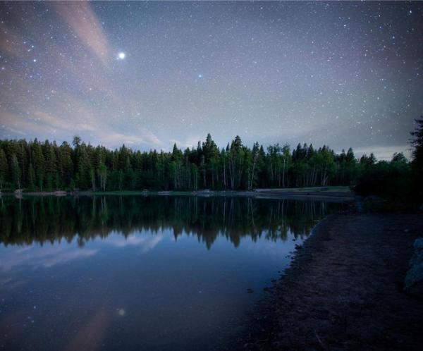 Payson Lakes at Night