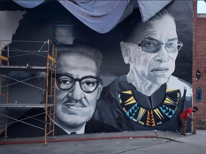 Thurgood Marshall and Ruth Bader Ginsburg
