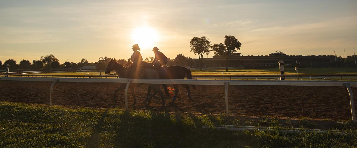 Keeneland at sunset