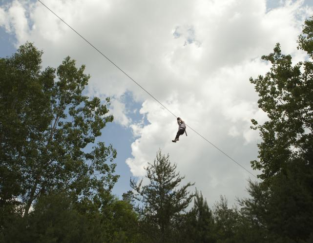 ziplining