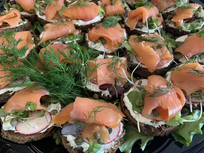Smoked Salmon and Capers courtesy of the Graze Gourmet.