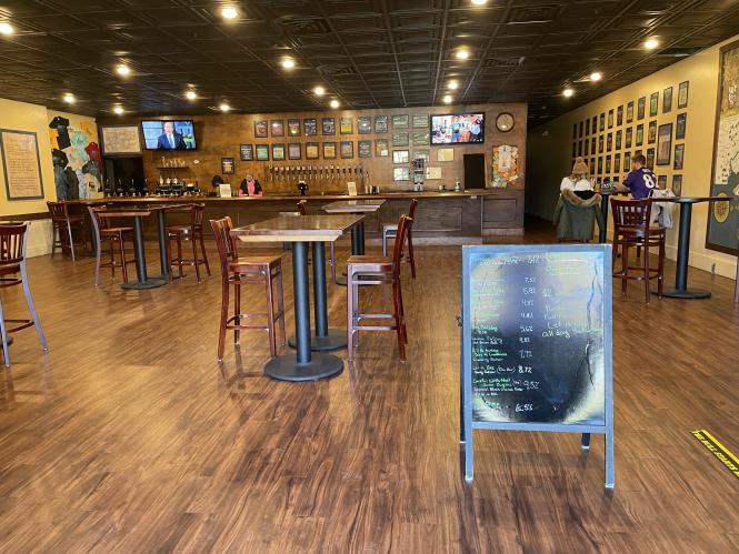 Chesepiooc Real Ale Brewery tasting room.