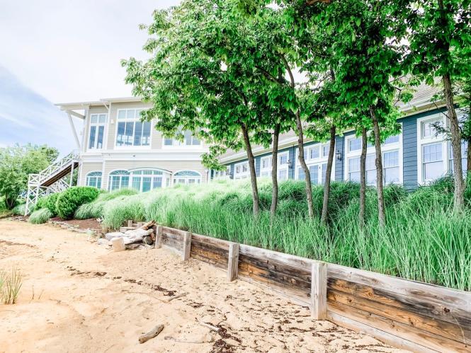 The shoreline of the Chesapeake Bay Beach Club.