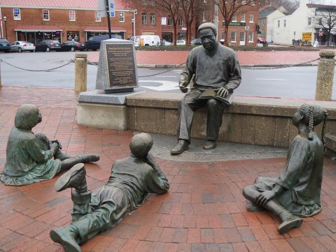 Kunta Kinte-Alex Haley Memorial at City Dock in Annapolis.