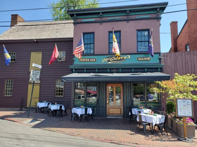 McGarvey's outdoor dining zone at Market Space.