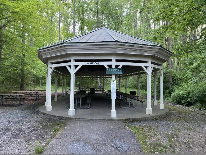 The White Pak Pavilion at Quiet Waters Park