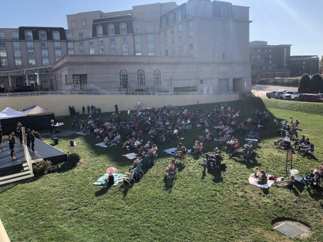 StageOne lawn in use during an MC3 performance.