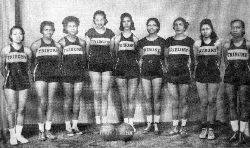 Black And White Photo Of Philadelphia Tribune Basketball Team