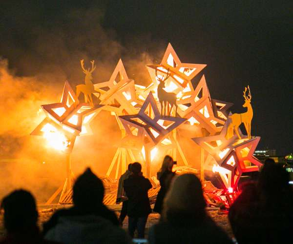 Algiers Point Christmas Bonfires