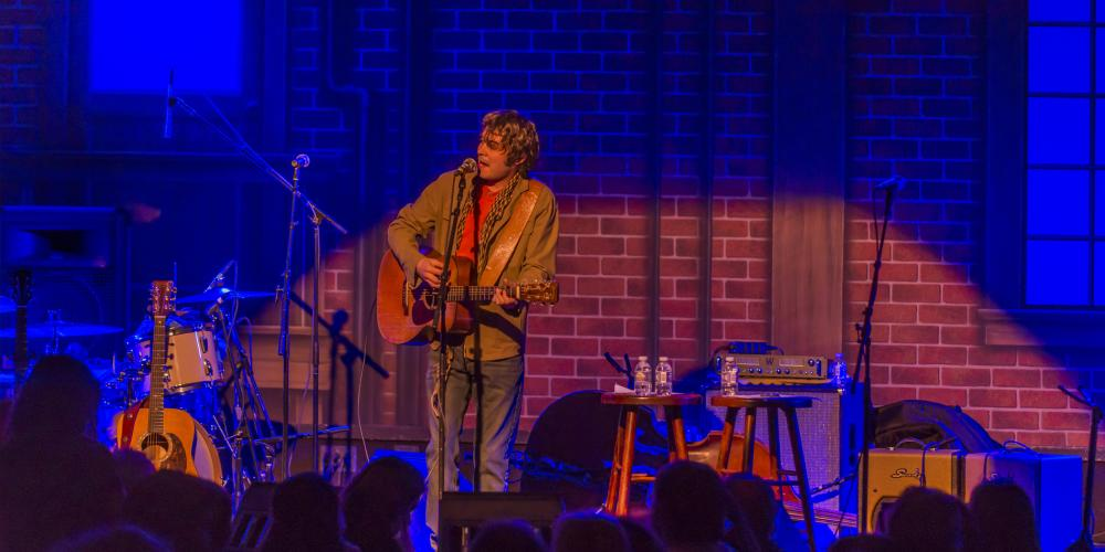 Musician On Stage At Birchmere In Alexandria, VA