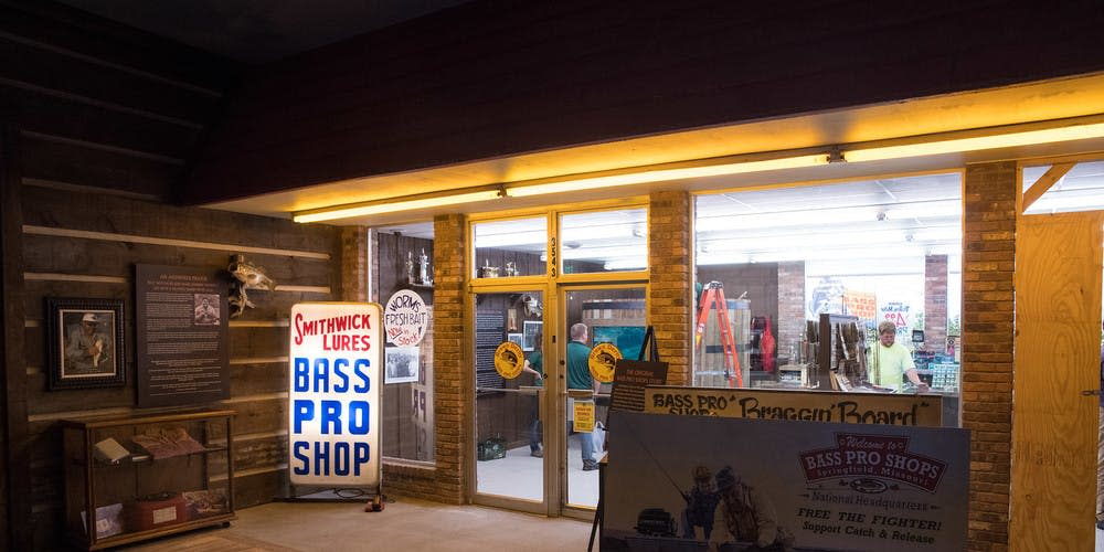 Re-creation of the original Bass Pro Shops in the Bass Pro Shops Museum in Springfield, Missouri.