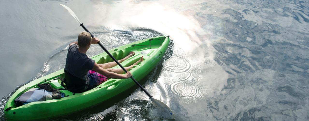 Green Kayaker