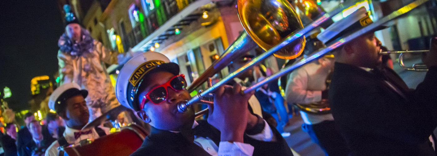 brass band, musician, french quarter