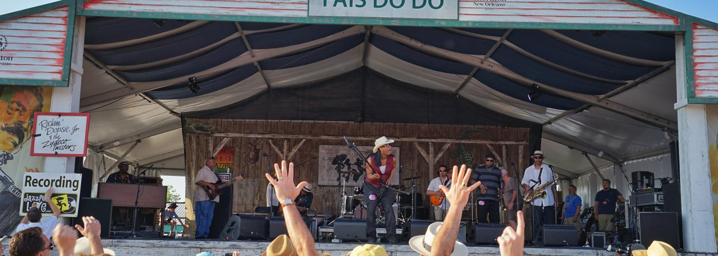 Rockin Dopsie & The Zydeco Twisters – Sheraton New Orleans Fais Do Do Stage – New Orleans Jazz & Heritage Festival 2015