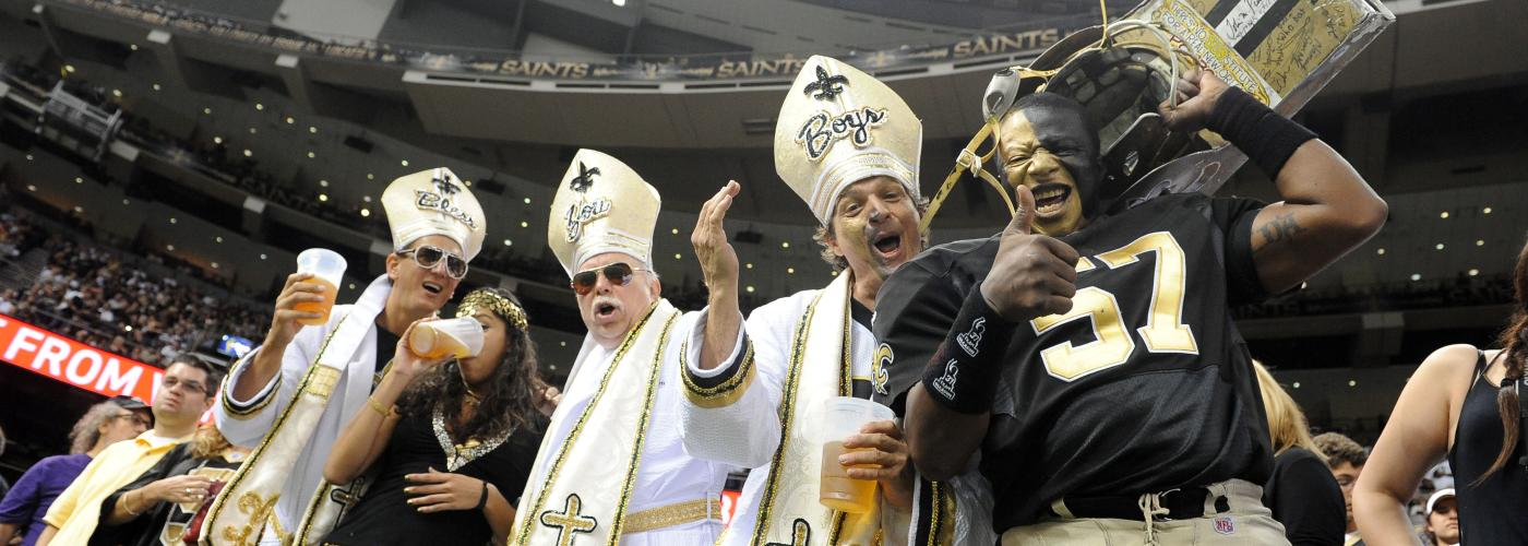 Saints-Fans im Superdome