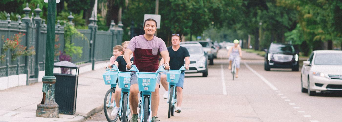Biking in the Garden District