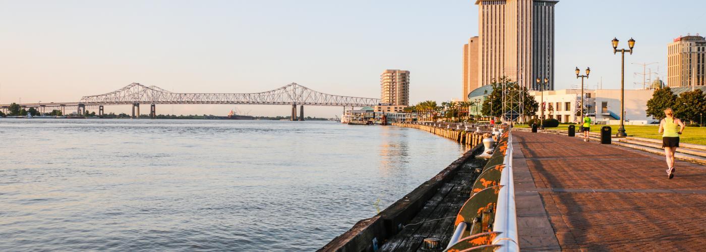 O rio em Nova Orleans