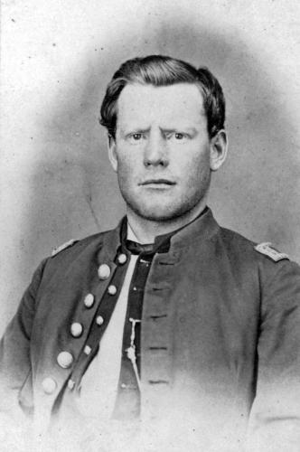 Portrait of Captain Silas Soule, unit leader who refused to participate in the Sand Creek Massacre. Brought to light the war crimes and later was assassinated for speaking out. His murders were never brought to justice.