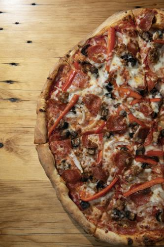 Epic pizza at Crowbar & Grille in Laramie, Wyoming