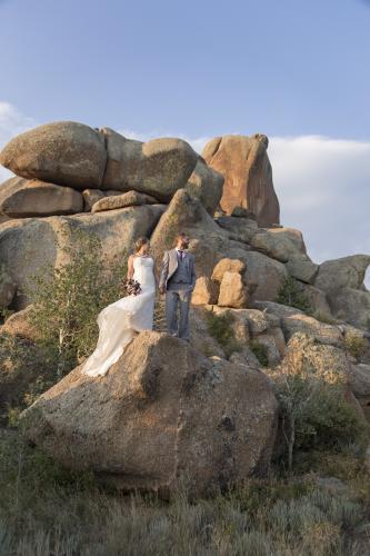 Wedding in Vedauwoo Recreation Area outside Laramie, Wyoming
