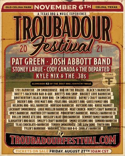 Troubadour Festival poster