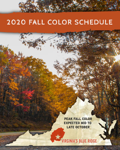 2020 Fall Color Leaf Schedule - Virginia's Blue Ridge Mountains