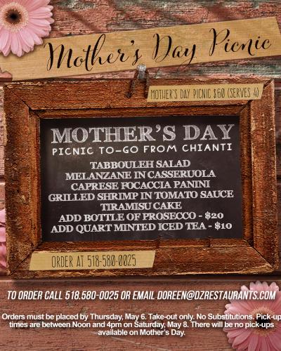 Chianti Mother's Day Menu